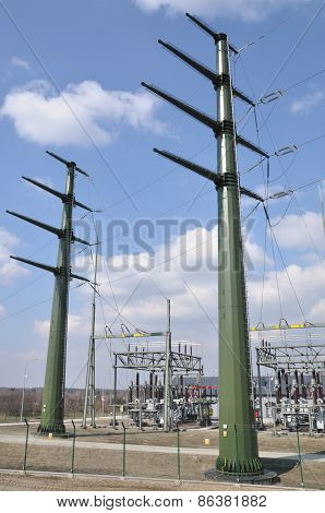 High voltage transformer station