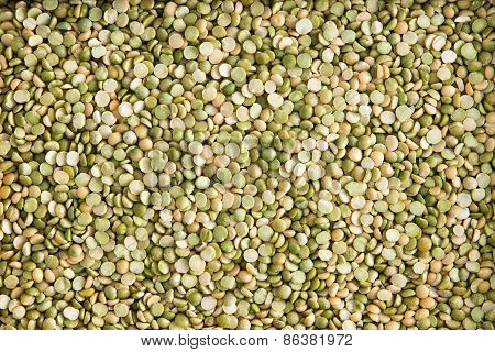 Background Texture Of Dried Green Lentils