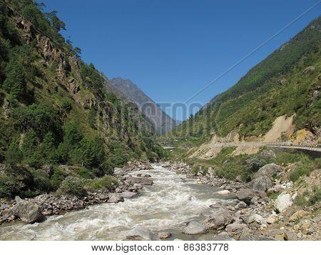 Bhote Khosi, River In Nepal