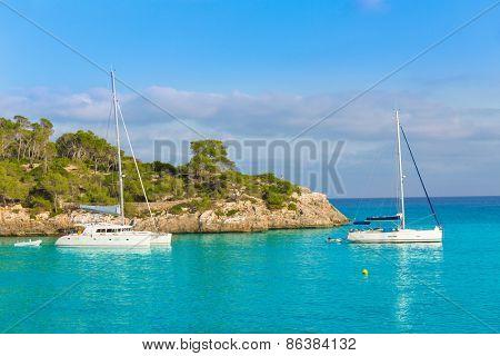 Majorca sAmarador beach Amarador in Mondrago Mondragon Natural Park of Mallorca Balearic Island