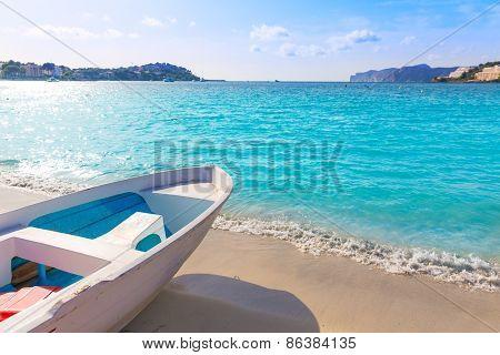 Mallorca Cala Santa Ponsa Ponca beach in Calvia Majorca Balearic islands of Spain