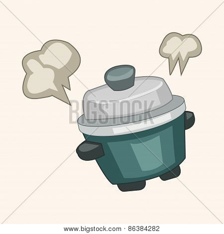 Home Appliances Theme Rice Cooker Elements
