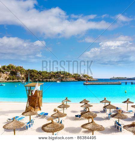 Majorca Porto Cristo beach in Manacor of Mallorca Balearic island at spain