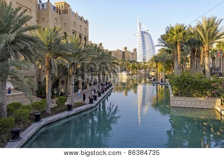 View Of Burj Al Arab From Madinat Jumeirah