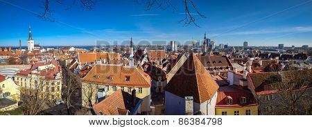 Panorama of the old town Tallinn
