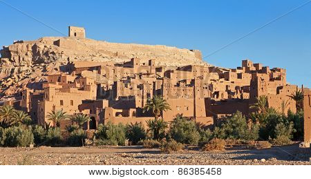 Ksar of Ait-Ben-Haddou in  the morning, Morocco.