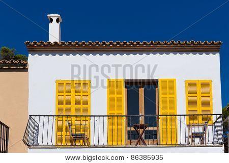 Majorca Cala Ratjada facades Rajada in Capdepera Mallorca