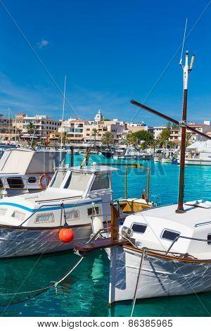 Majorca Cala Ratjada Rajada marina port boats  in Capdepera Mallorca