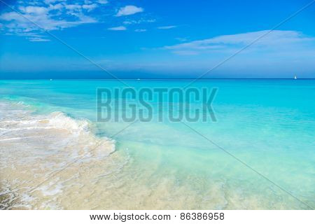 cuba, caribbean, south america. the dream beach of varadero
