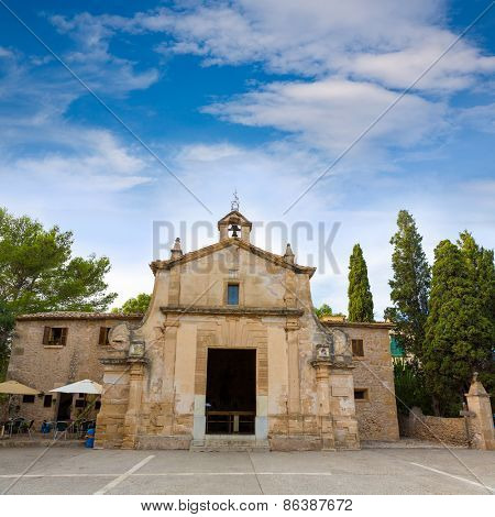 Majorca esglesia del Calvari church in Pollenca Pollensa at Mallorca spain