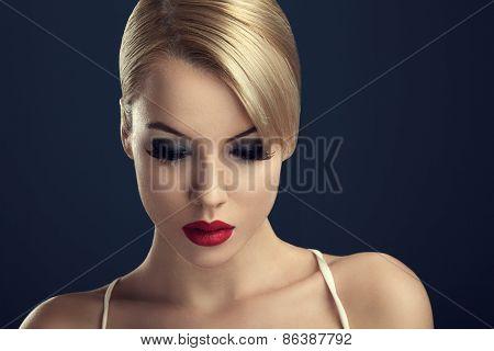 Beautiful Woman With Professional Makeup