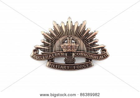 Australian Anzac Rising Star Hat Badge