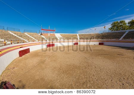 Alcudia Mallorca bullring in Balearic islands of Majorca Spain