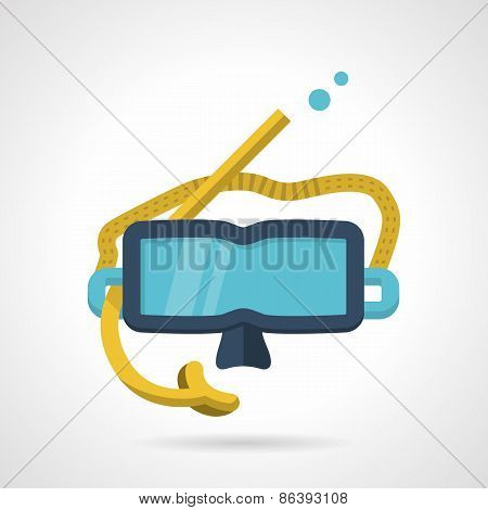Snorkeling mask flat vector icon