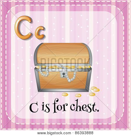 Flashcard letter C is for chest