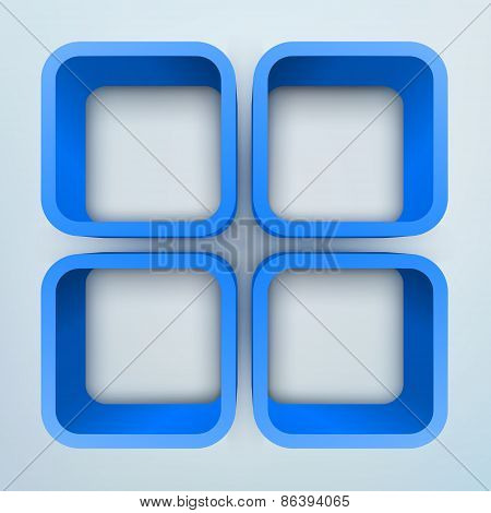 Abstract 3d vector illustration with place for text