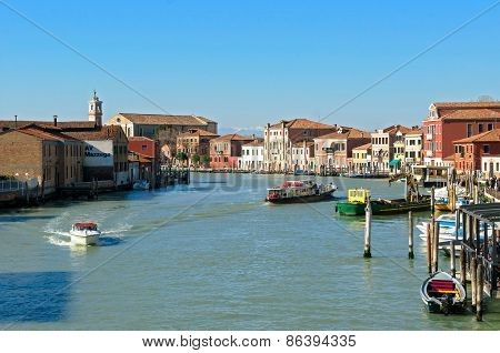 Canal Of Murano Islands - Venice Italy