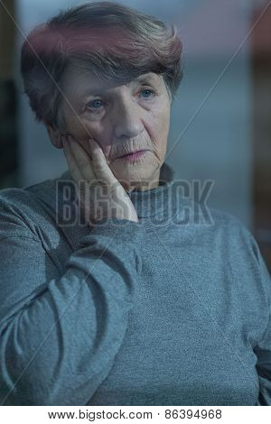 Worried Resident Of Nursing Home