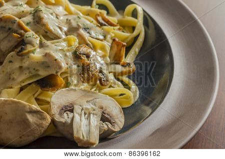 Mushroom Fetuccine Alfredo