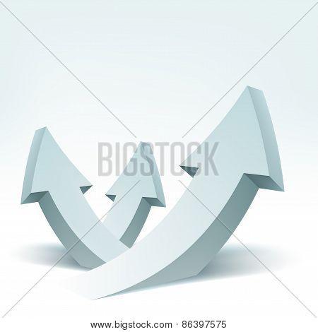 Abstract vector illustration, 3d arrows