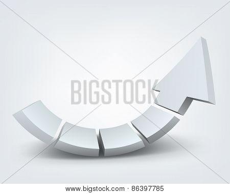 Abstract vector illustration, 3d arrow