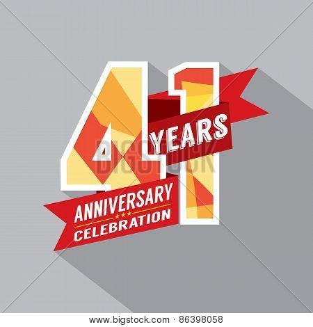 41St Years Anniversary Celebration Design.