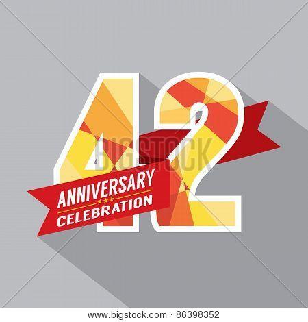 42Nd Years Anniversary Celebration Design.