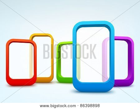 Abstract 3d vector frames