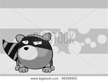 sweet raccoon cartoon background