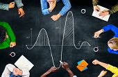 stock photo of mathematics  - Parabola Curve Graph Science Mathematics Concept - JPG