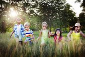 stock photo of cheer  - Diversity Children Childhood Friendship Cheerful Concept  - JPG