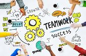 stock photo of collaboration  - Teamwork Team Together Collaboration Meeting Brainstorming Ideas Concept - JPG