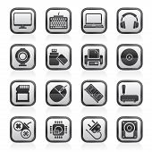 picture of peripherals  - Computer peripherals and accessories icons  - JPG