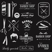 stock photo of barbershop  - Set of logo - JPG