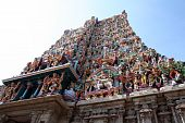 picture of meenakshi  - Low angle view of a temple at tamil nadu - JPG