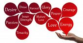 stock photo of healing hands  - Healing hand with red healing energy  - JPG