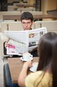 picture of newspaper  - Handsome with newspaper - JPG