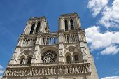 picture of notre dame  - Notre Dame de Paris Cathedral on Cite Island France - JPG