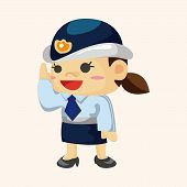 picture of policeman  - Policeman Theme Elements - JPG