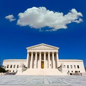 stock photo of supreme court  - Supreme Court of United states building in Washington DC - JPG
