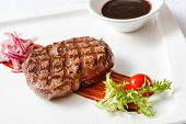 picture of chateaubriand  - meat steak with sauce - JPG