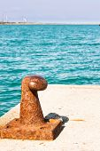 picture of bollard  - Harbor equipment - JPG