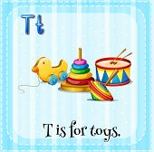 picture of letter t  - Flashcard letter T is for toys - JPG