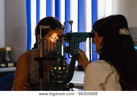 Vision Screening In Ophthalmologist Office