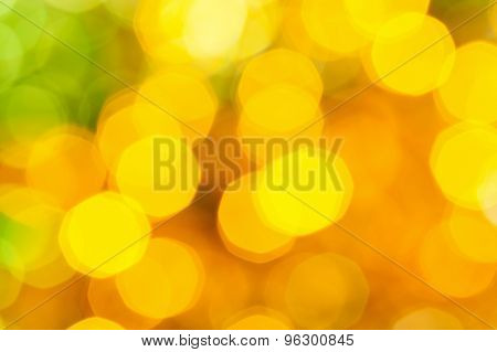 Blurred Yellow Green Big Christmas Lights