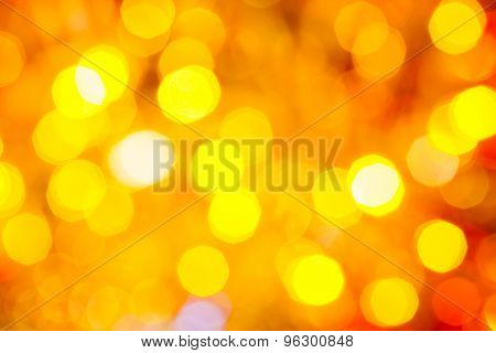 Yellow And Red Blurred Shimmering Christmas Lights