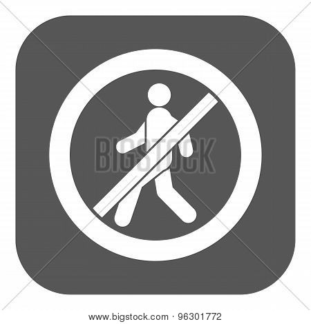The no entry icon. Disallowed and danger, warning symbol. Flat