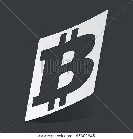 Monochrome bitcoin sticker