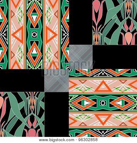 Patchwork Seamless Pattern Ornamental Texture Background