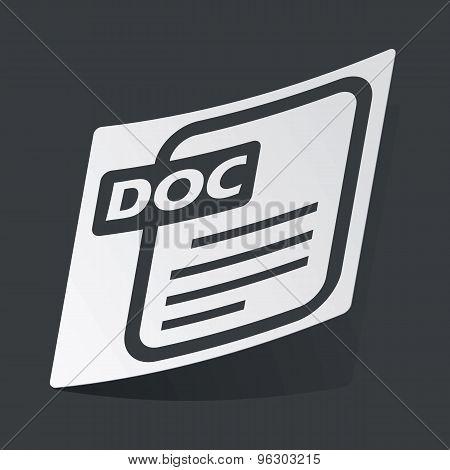 Monochrome DOC file sticker